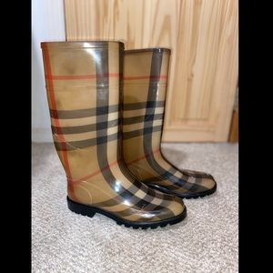 Authentic BURBERRY Nova Check Rubber Rainboots